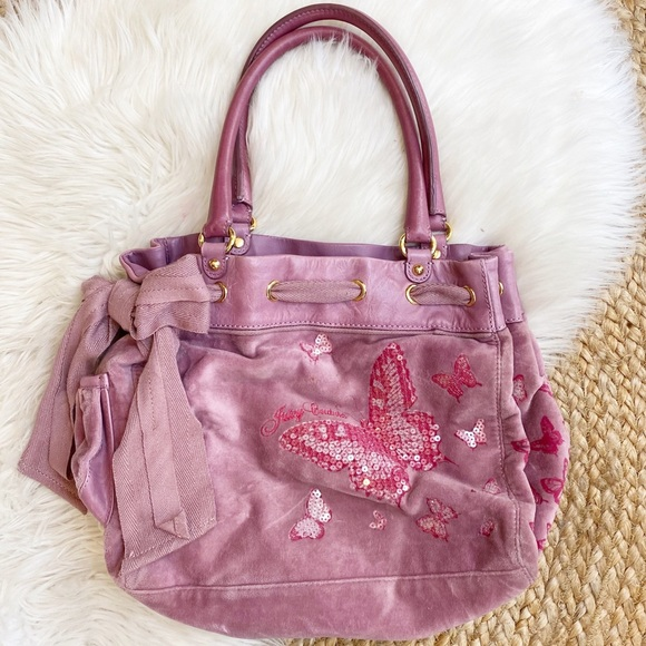 Juicy Couture Butterfly Daydreamer Velour Tote